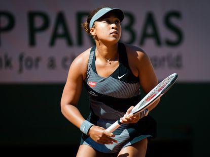 Osaka, durante su partido de la primera ronda contra Patricia Maria Tig.