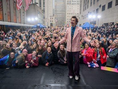 El cantante Harry Styles, en Nueva York en febrero de 2020.