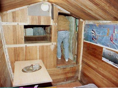 El interior del zulo del funcionario de Prisiones José Antonio Ortega Lara, que estuvo secuestrado por ETA durante 532 días.