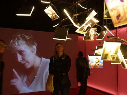 Rosa Maria Sardà, en un audiovisual de la exposición.