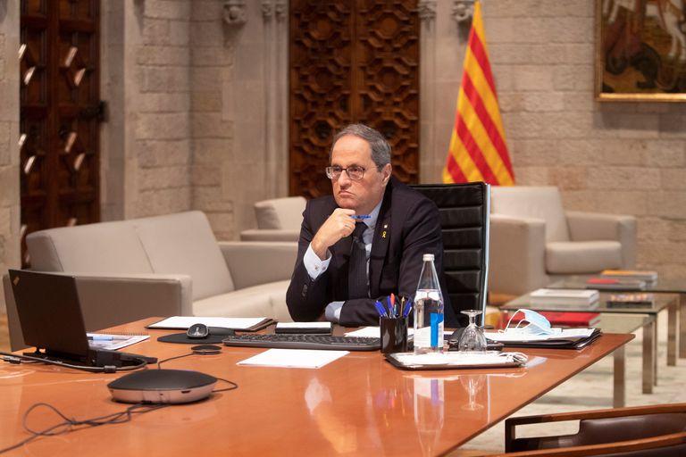 El presidente de la Generalitat, Quim Torra, la semana pasada en la Generalitat.