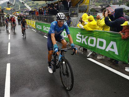 Enric Mas, tras terminar la etapa del sábado, en Le Grand Bornand.