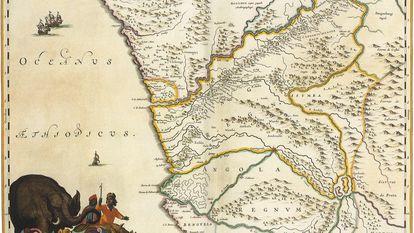 Mapa de 1662 del antiguo Reino del Congo. (Getty Images)