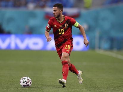 Eden Hazard, en el partido contra Finlandia.