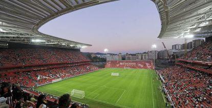 Vista del nuevo estadio de San Mamés.