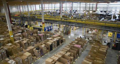 El centro logístico de Amazon en la Comunidad de Madrid.