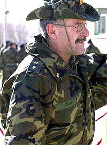 El teniente coronel José Ramón Solar, uno de los ayer.