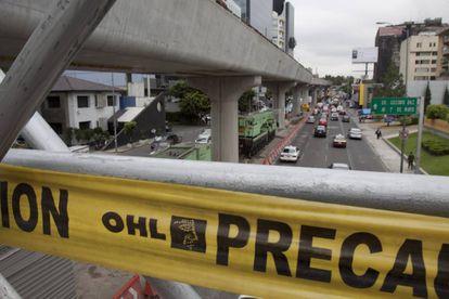 Obra de OHL en México, en el año 2011.