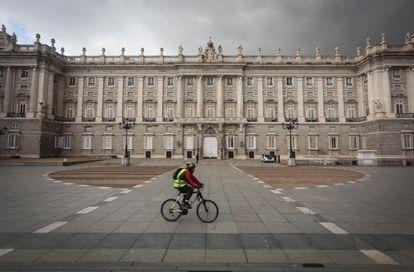 Madrid vacío, durante el estado de alarma por la crisis del coronavirus, el pasado abril.
