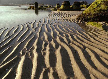 La playa de La Carnota en A Coruña, ocho kilómetros de campiña costera.