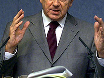 Frits Bolkestein, comisario europeo de Mercado Interior.