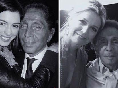 Valentino, junto a Anne Hathaway y Máxima de Holanda.