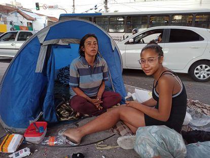 Vanessa Ferreira y su hija, Maria Julia, viven en Santana, en el norte de São Paulo.