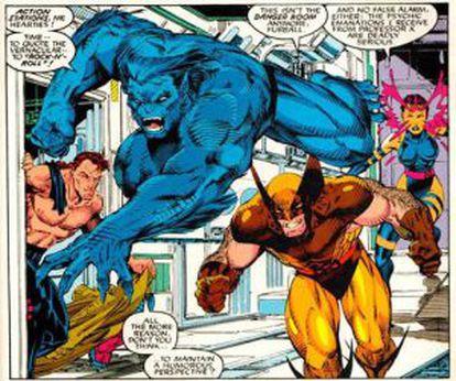 Una viñeta de X-Men.