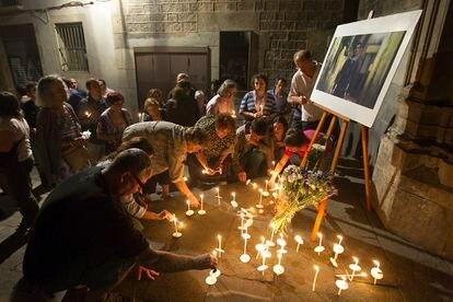 Homenaje en Barcelona al poeta Salvador Iborra pocos días después de su asesinato.