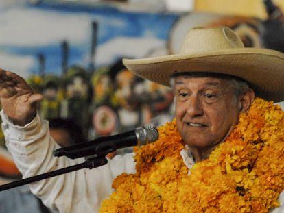López Obrador, en el municipio de Tixtla, Guerrero.