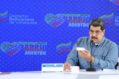 El presidente venezolano Nicolás Maduro, en un acto de gobierno con militares, el 16 de abril, en Caracas.