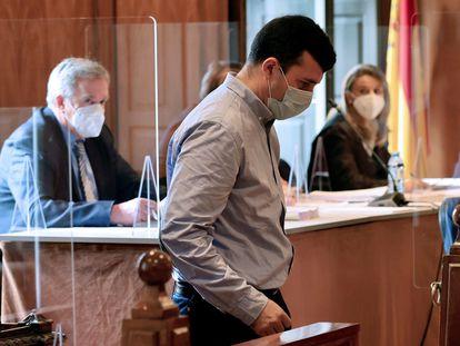 El sacerdote del colegio Salesianos de Vigo Segundo C.V., durante el juicio en la Audiencia de Pontevedra en julio pasado.