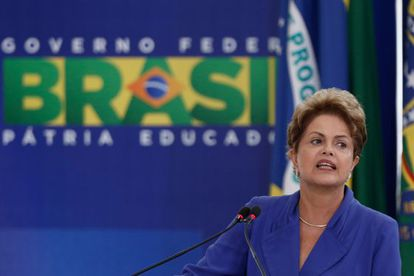 Rousseff, durante la presentación de medidas anticorrupción.