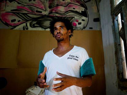 El artista cubano Luis Manuel Otero Alcántara, en una imagen de archivo.