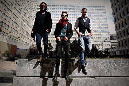 Soni Artal, Miguel y Josemán Escrivá, miembros de Santero y los muchachos.