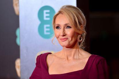 J. K. Rowling, en los premios Bafta celebrados en Londres en 2017.