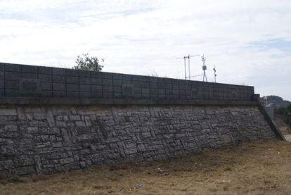Un deposito de agua municipal en Calaf (Anoia).