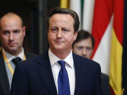 David Cameron, a su salida de la cumbre de Bruselas.