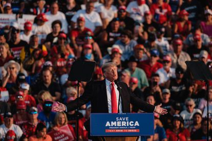 Former President Donald Trump, this Saturday during a rally in Wellington (Ohio).
