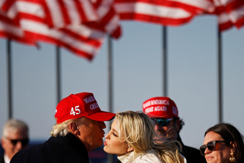 El presidente Trump, con su hija Ivanka.