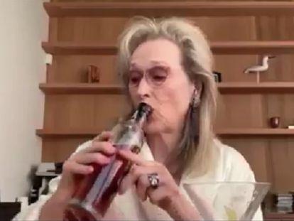 Meryl Streep 'se emborracha' con sus amigas en plena cuarentena para homenajear a Stephen Sondheim