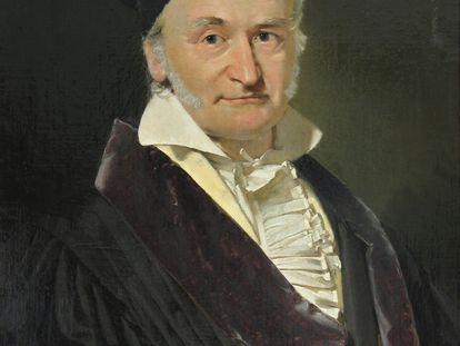 Carl Friedrich Gauss, en un retrato realizado en 1840 por Christian Albrecht Jensen.