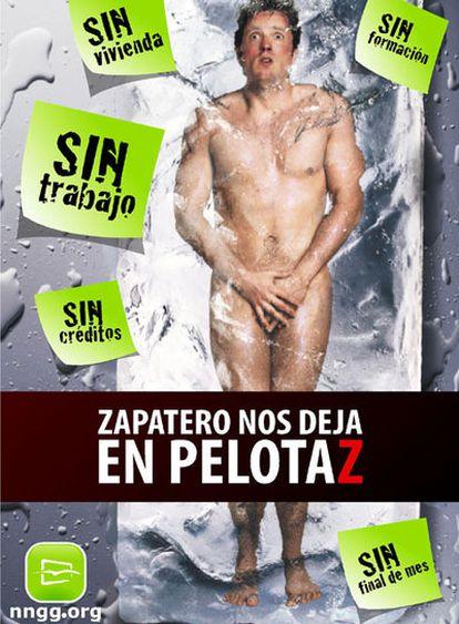 """Bajo el lema """"Zapatero nos deja en pelotaz"""", los jóvenes del PP inician una campaña por todas las provincias"""