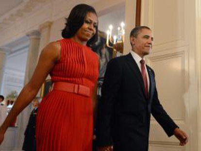 Barack y Michelle Obama, los anfitriones del la cumbre del G-8.