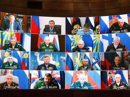 Reunión organizada por el Ministerio de Defensa ruso, el pasado 29 de abril.