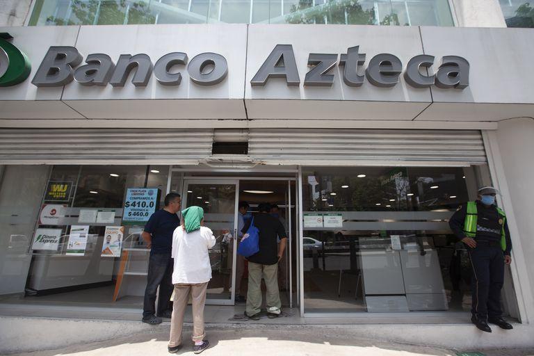 Una sucursal de Banco Azteca, en Ciudad de México.