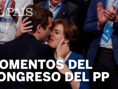 Pablo Casado saluda a Soraya Sáenz de Santamaría.