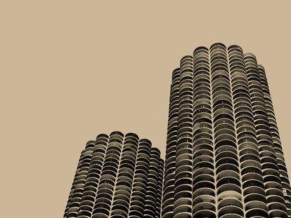 La portada de 'Yankee Hotel Foxtrot', de Wilco, se ilustró con las dos torres del Marina City de Chicago, obra del arquitecto Bertrand Goldberg. Muchos oyentes establecieran conmovedoras conexiones con las Torres Gemelas de Nueva York dado que el álbum se publicó solo una semana después de los atentados.