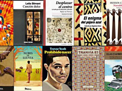 Portadas de los 10 libros arfricanos más destacados de 2017.
