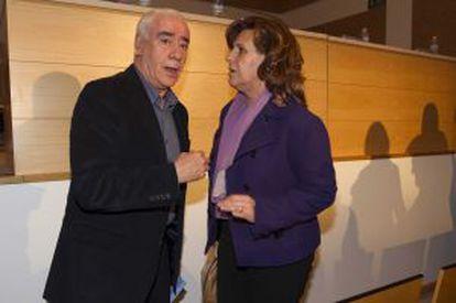 Luciano Alonso y Rosa Torres, en el comité del PSOE de Málaga.