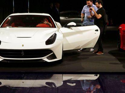 El Ferrari F12 Berlinetta presentado en una pasada edición del Salón del Automóvil de Barcelona.