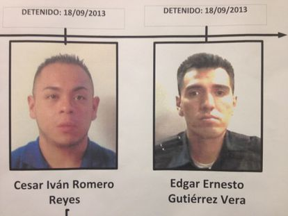 Detenidos por el 'caso Heavens'. A la derecha, el policía Edgar Gutiérrez.