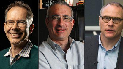 Guido W. Imbens, Joshua Angrist y David Card.