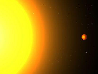Ilustración del planeta extrasolar Kepler 78b, donde un año dura solo ocho horas y media.