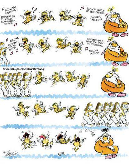 Una de las viñetas de la serie <b><i>¡Dios mío!,</b></i> del humorista gráfico José Luis Martín.