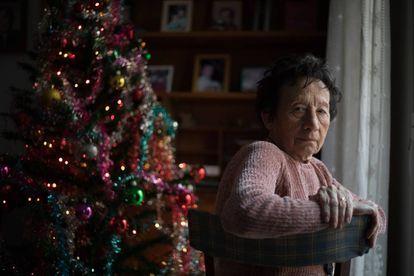 Consuelo Díaz- Maroto, enferma de EPOC, en su domicilio en Madrid.