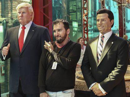 Figuras de Trump (i) y Peña Nieto (d) en una exposición en el Museo de Cera de Ciudad de México