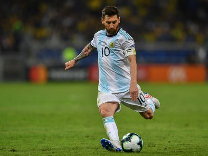 El argentino Lionel Messi en un partido de la Copa América en 2019.