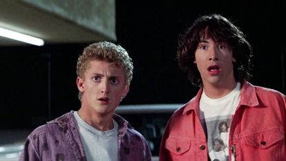 Alex Winter and Keanu Reeves in the first 'Bill and Ted' movie.