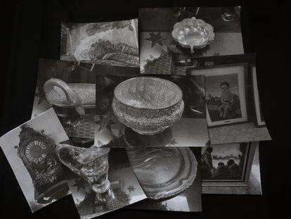 Un reloj estilo Luis XV, salseras de plata, cuadros... Fotos de los objetos que los hijos de Cuevas dicen que le entregaron a Gertz.